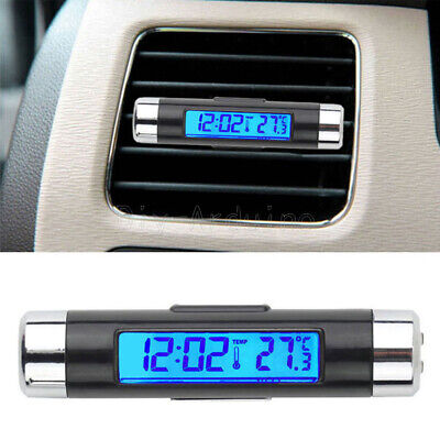 2in1 Digital LED Car Clock Thermometer Temperature LCD Backlight Without Battery • 2.68€