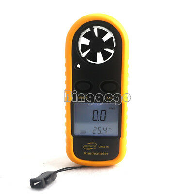 Digital Mini LCD Wind Speed Gauge Air Velocity Meter Anemometer NTC Thermometer • 7.78€