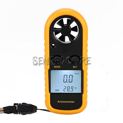 Digital Mini LCD Wind Speed Gauge Air Velocity Meter Anemometer NTC Thermometer • 7.80€