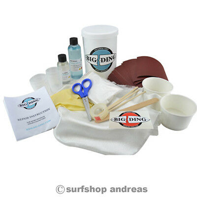 Big Ding Epoxy SURFBOARD REPAIR KIT 150ml Reparatur Surf Surfbrett Windsurfboard • 38.99€